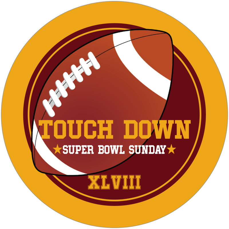 round beer coasters - maroon & gold - football (set of 12)