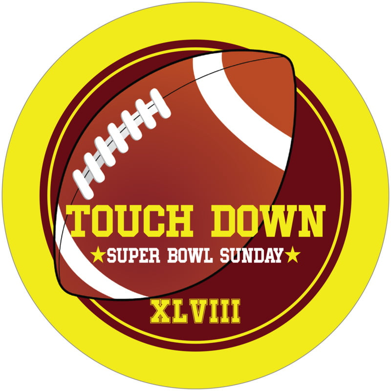 round beer coasters - maroon & yellow - football (set of 12)