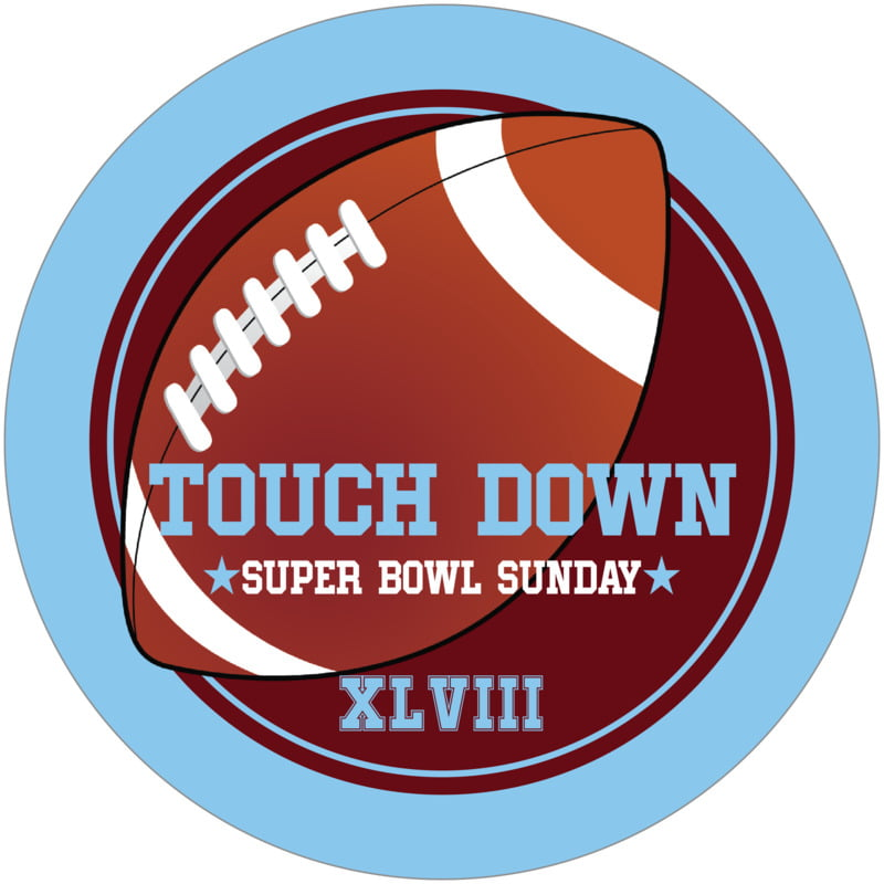 round beer coasters - maroon & light blue - football (set of 12)