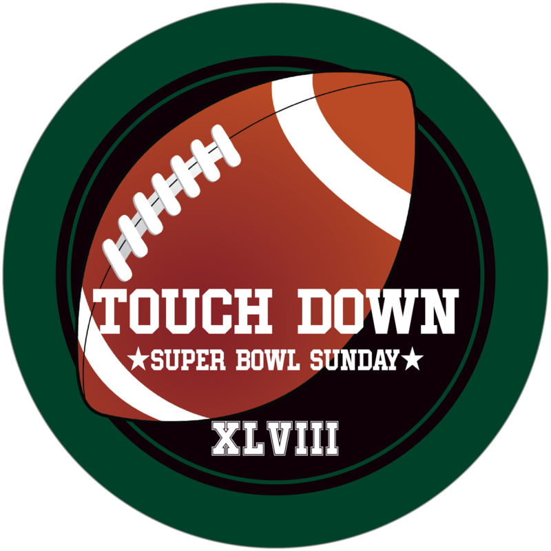 round beer coasters - black & forest - football (set of 12)