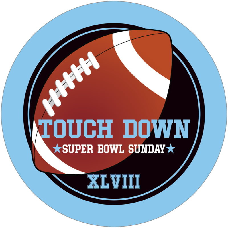 round beer coasters - black & light blue - football (set of 12)