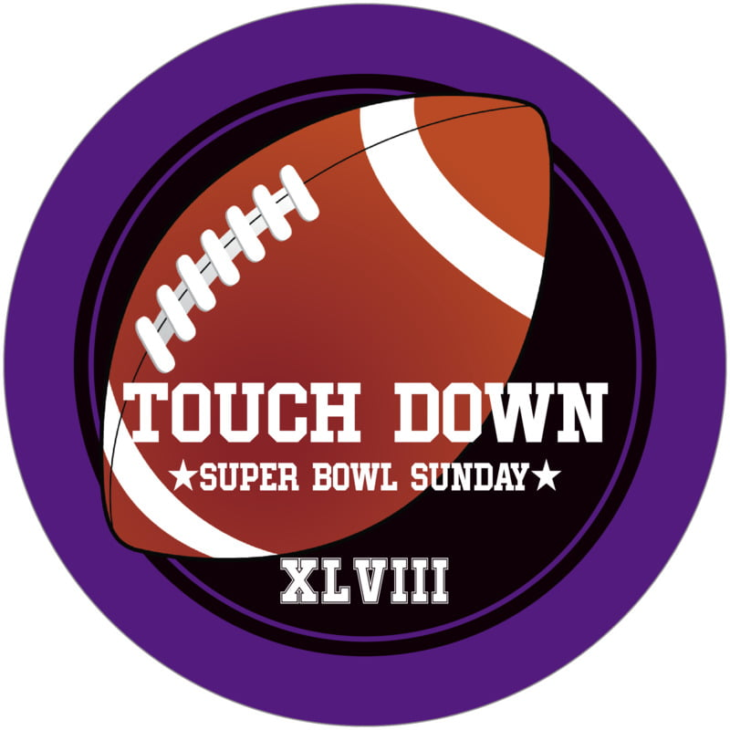 round beer coasters - black & purple - football (set of 12)