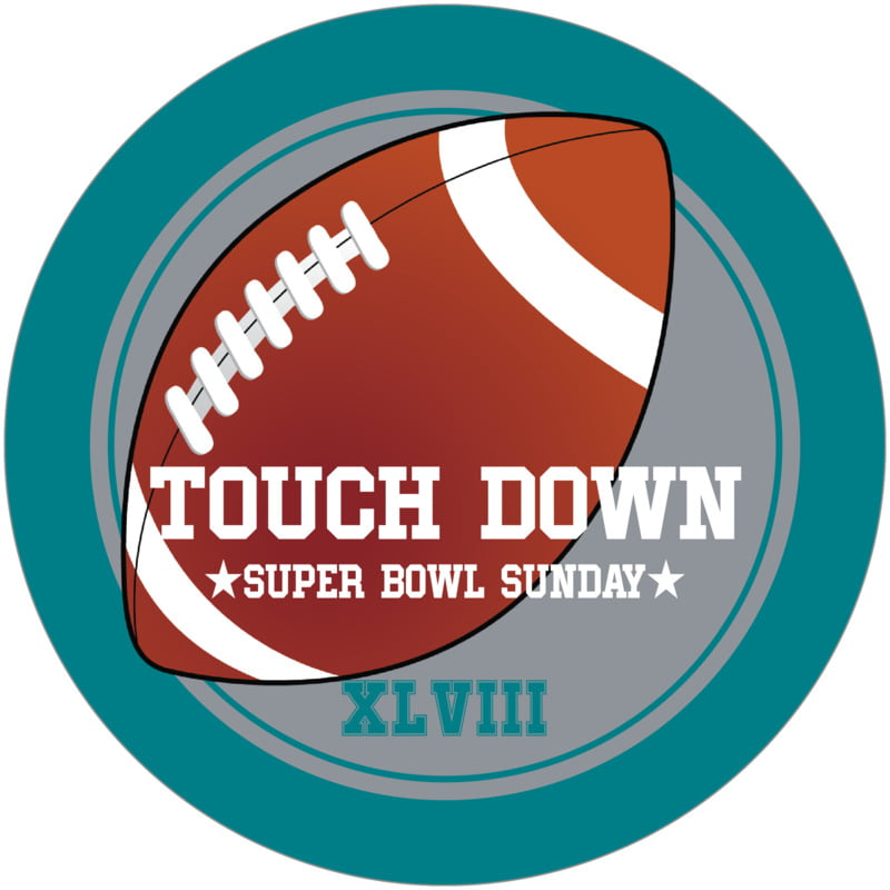 round beer coasters - silver & teal - football (set of 12)