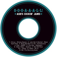 Soccer Cd Label In Black & Teal