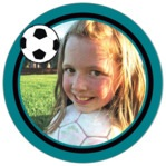 Soccer circle photo labels