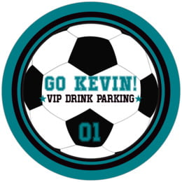 Soccer round coasters