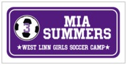 Soccer Rectangle Label In Purple & White