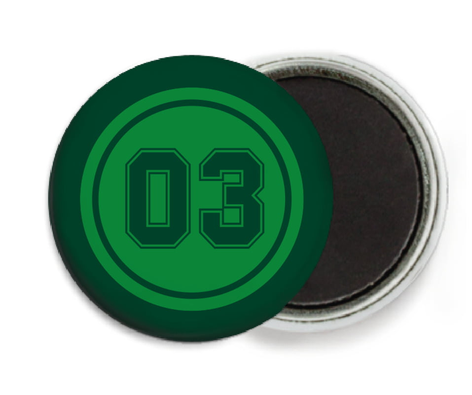 custom button magnets - green & forest - soccer (set of 6)