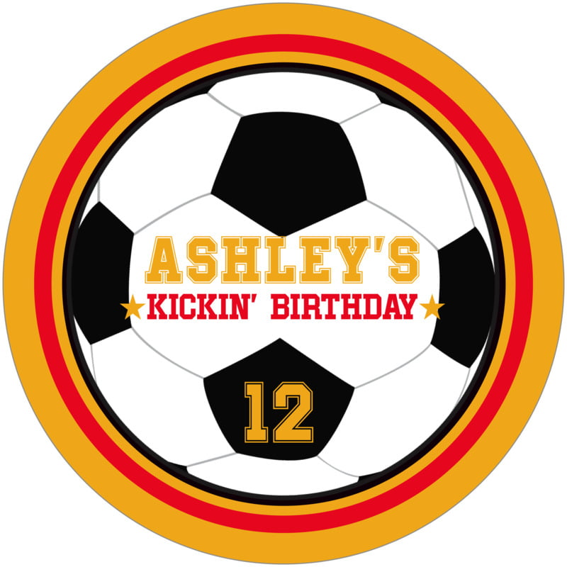 round beer coasters - red & gold - soccer (set of 12)