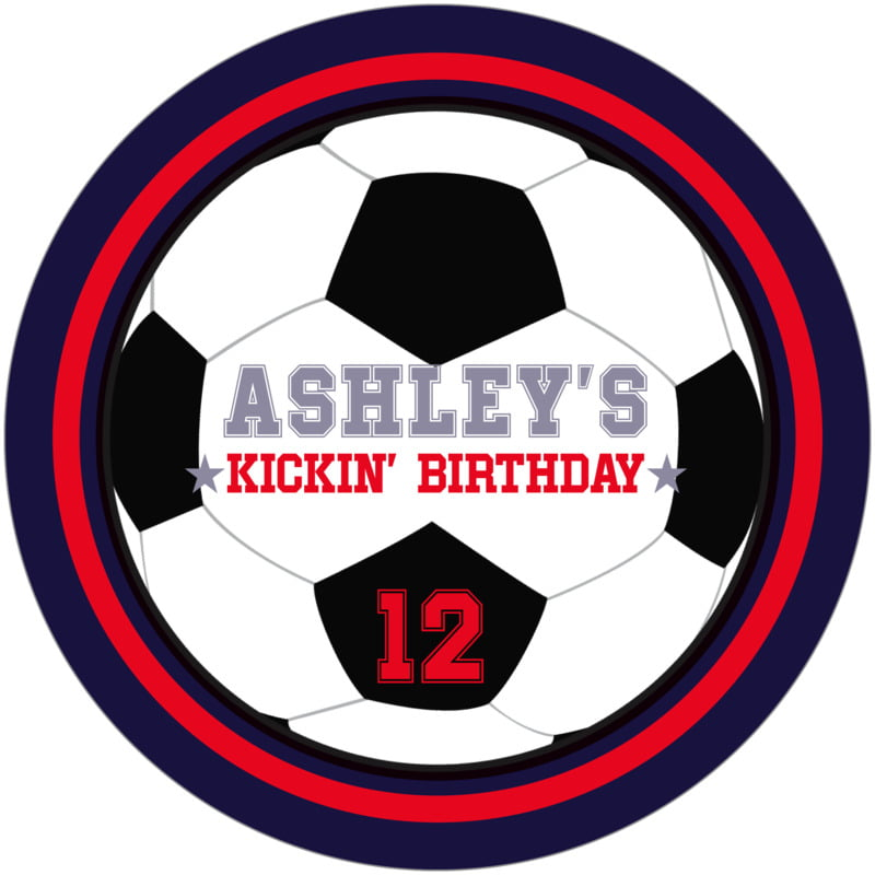 round beer coasters - red & navy - soccer (set of 12)