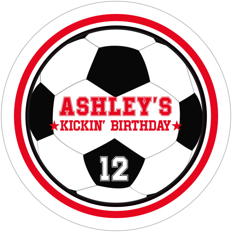 round beer coasters - red & white - soccer (set of 12)