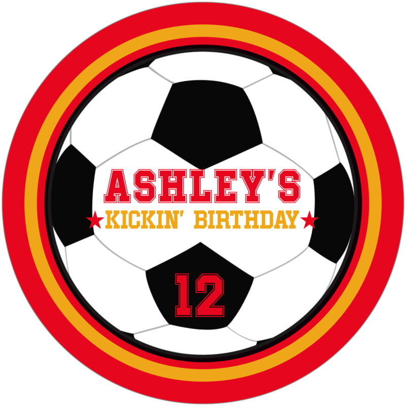 round beer coasters - gold & red - soccer (set of 12)