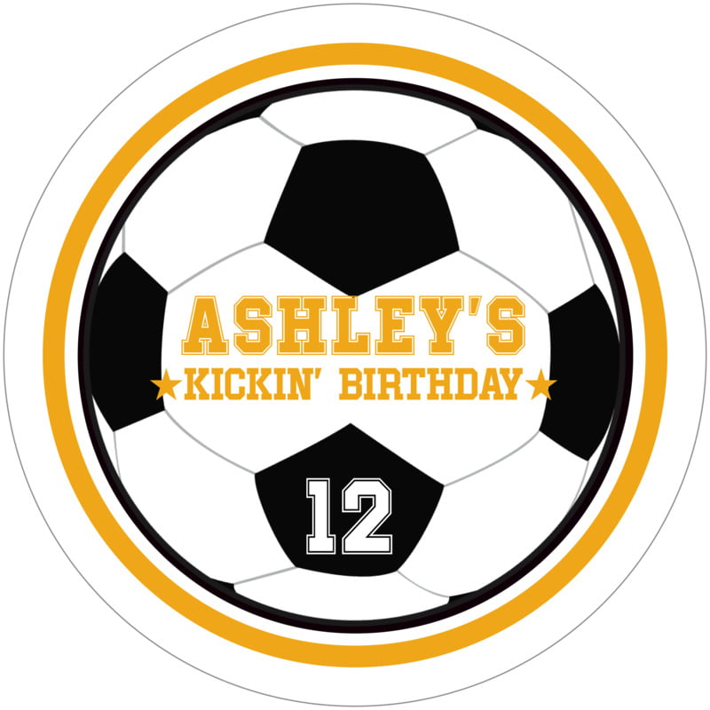 round beer coasters - gold & white - soccer (set of 12)