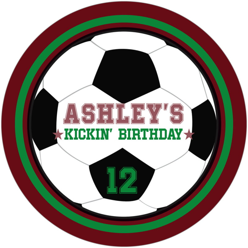 round beer coasters - green & maroon - soccer (set of 12)