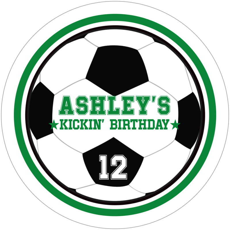 round beer coasters - green & white - soccer (set of 12)