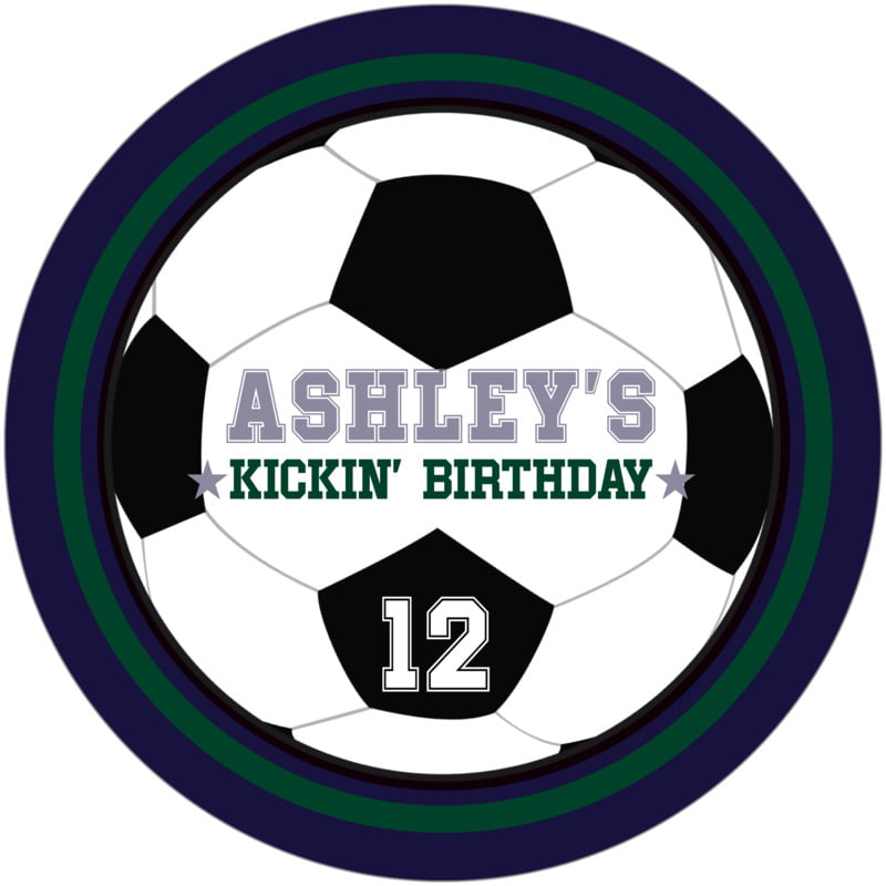 round beer coasters - forest & navy - soccer (set of 12)