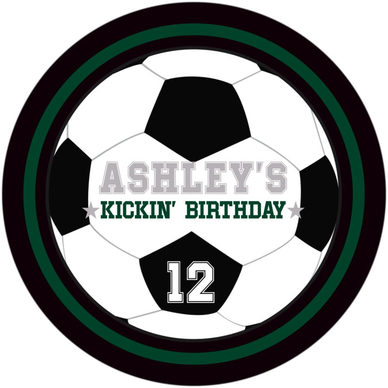 round beer coasters - forest & black - soccer (set of 12)