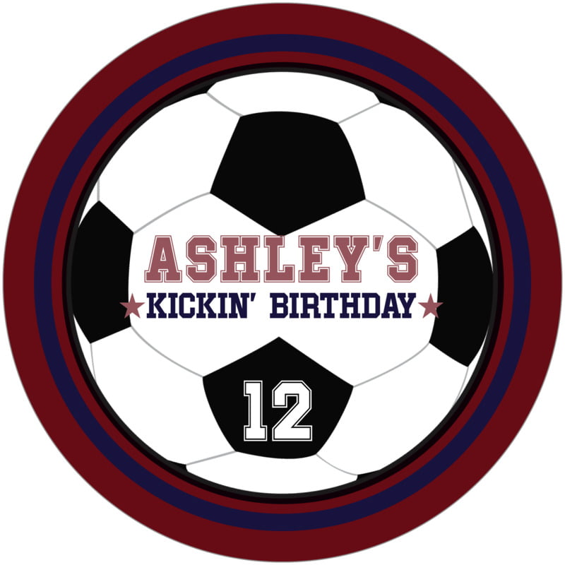 round beer coasters - navy & maroon - soccer (set of 12)