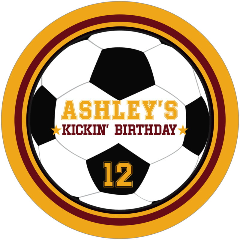 round beer coasters - maroon & gold - soccer (set of 12)