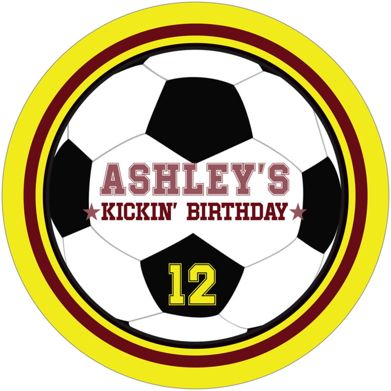 round beer coasters - maroon & yellow - soccer (set of 12)