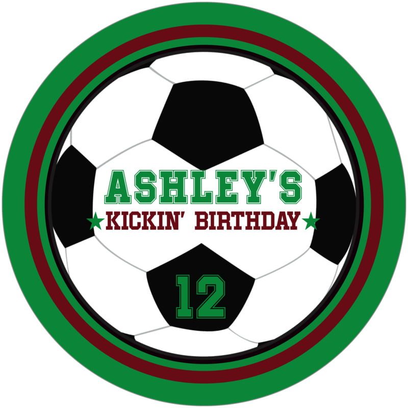 round beer coasters - maroon & green - soccer (set of 12)