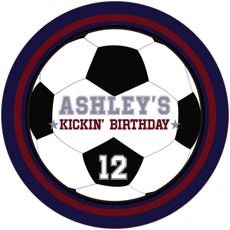 round beer coasters - maroon & navy - soccer (set of 12)