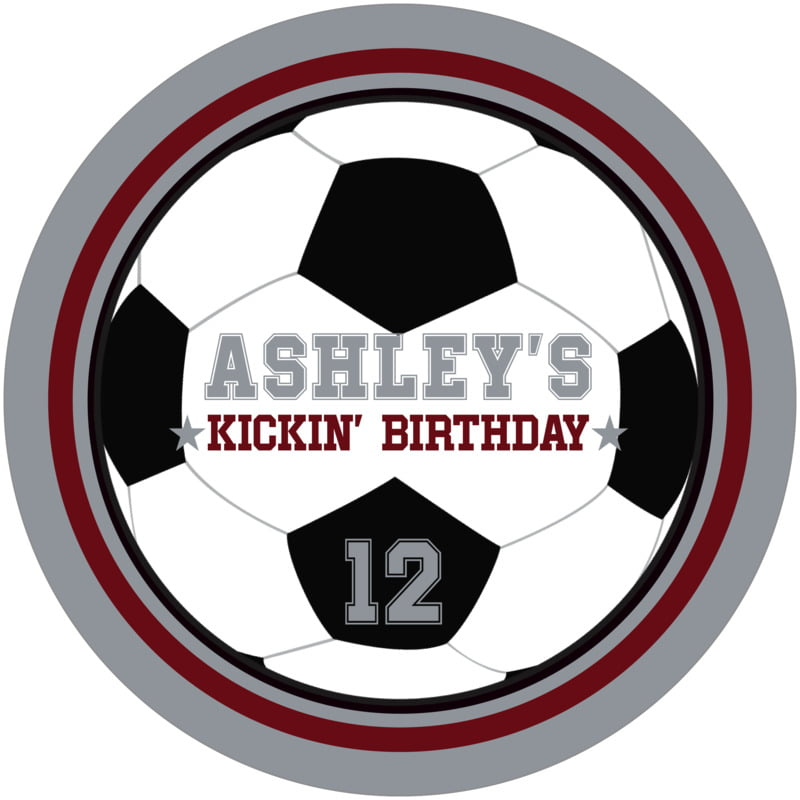 round beer coasters - maroon & silver - soccer (set of 12)
