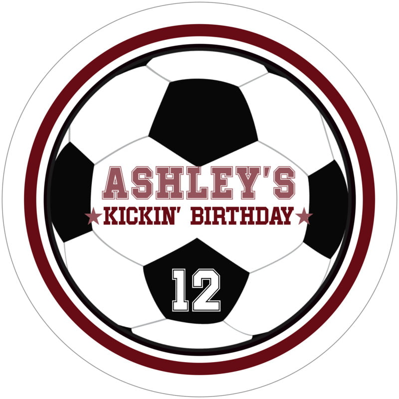 round beer coasters - maroon & white - soccer (set of 12)