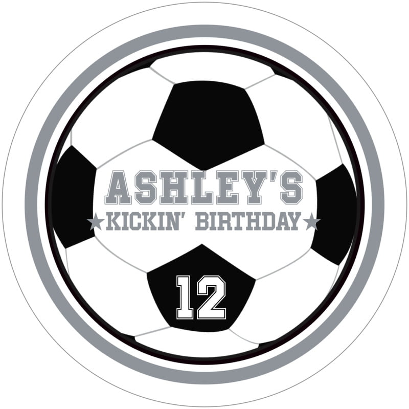 round beer coasters - silver & white - soccer (set of 12)