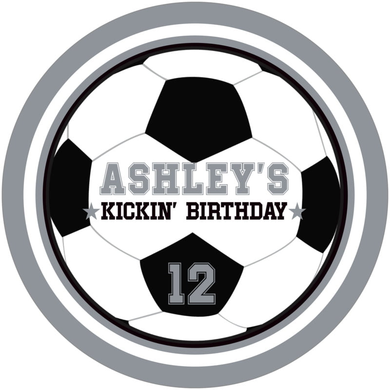 round beer coasters - white & silver - soccer (set of 12)