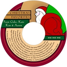 Santa christmas CD/DVD labels