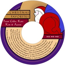 Santa cd labels