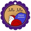 Santa scallop hang tags
