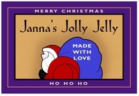 Santa wide rectangle labels