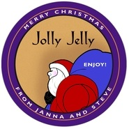 Santa large circle labels