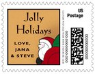 Santa small postage stamps