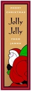 Santa holiday wine labels