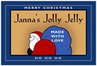 Santa holiday labels