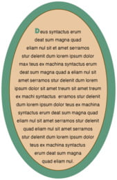 Strasbourg oval text labels
