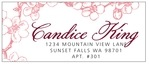 Spring designer address labels