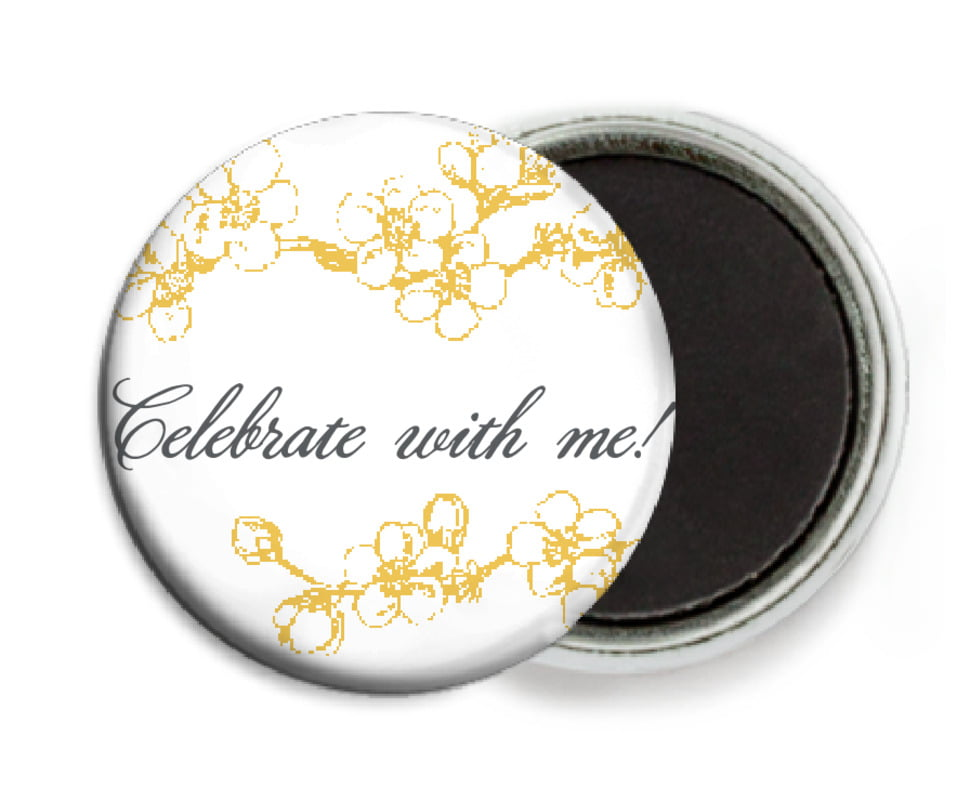 custom button magnets - amber - spring (set of 6)