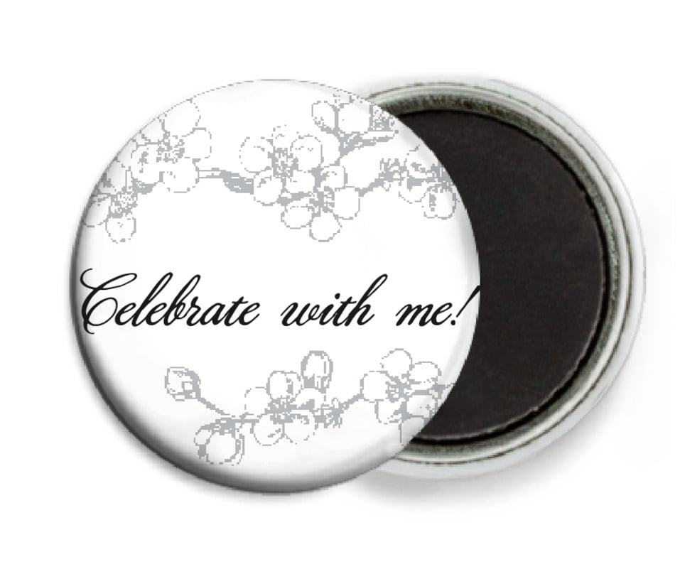 custom button magnets - tuxedo - spring (set of 6)