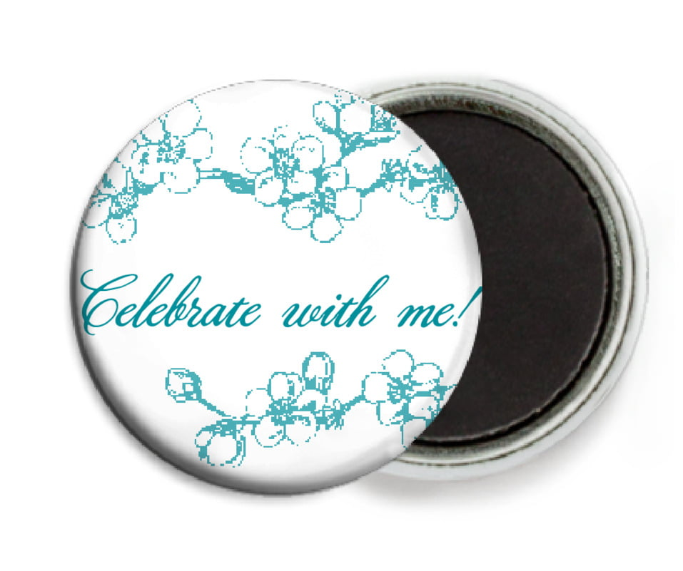 custom button magnets - lagoon - spring (set of 6)