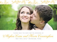 custom save-the-date cards - amber - spring (set of 10)