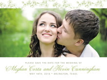 custom save-the-date cards - green tea - spring (set of 10)