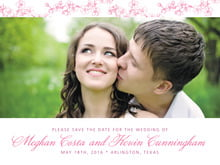 custom save-the-date cards - pink - spring (set of 10)