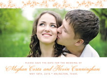 custom save-the-date cards - tangerine - spring (set of 10)