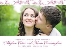 custom save-the-date cards - burgundy - spring (set of 10)