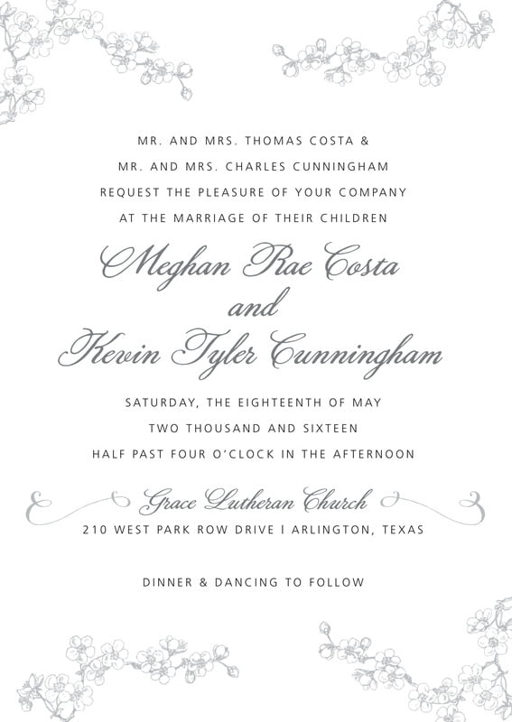 custom invitations - tuxedo - spring (set of 10)