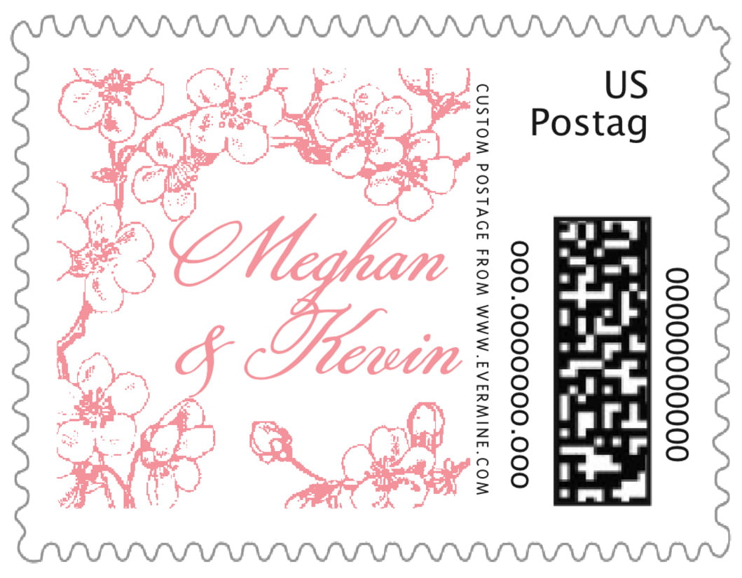 small custom postage stamps - grapefruit - spring (set of 20)